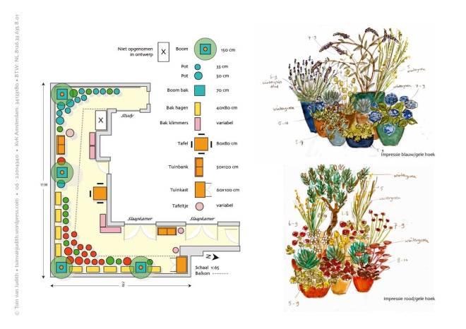 ontwerp en plantenimpressie