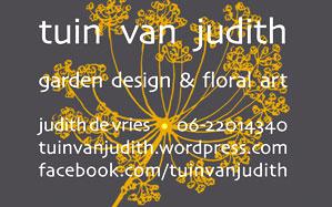 Tuin van Judith, garden design & floral art