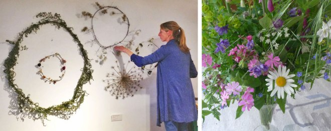 Ronde bloemenslinger van Judith de Vries bij Hutspot