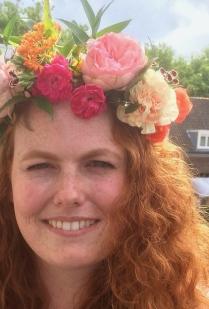 bruid bloemenkroon